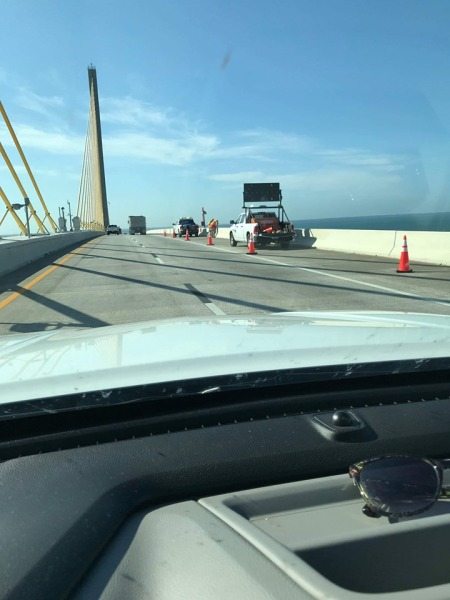 Anti-Suicide Plaques Being Installed on Sunshine Skyway Bridge